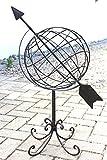 Mappamondo in metallo 101806 Orologio solare in ferro battuto 72cm Orologio da giardino Decorazione da giardino