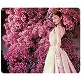 Audrey Hepburn oblong mouse pad by eggcase