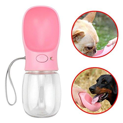 SELMAI Tragbare Wasserflaschen für Klein Hunde Katze Tiere Travel Wasserspender Trinkflasche mit Schüssel Unterwegs Auslaufsicher -