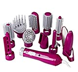 MZP 10in1 Multi Hot Air Styler spazzola per capelli pettine per capelli per capelli curling (multicolore facoltativo) , Pink