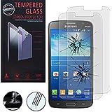 Samsung Galaxy Grand 2 G7100, SM-SM-, SM-G7106 G7102, SM-48JU-Funda de piel sintética con tapa y soporte de tela efecto vídeo 2 protectores de pantalla y 1 lápiz capacitivo, 1-Soporte de coche para GPS con pinza ajustable giratoria
