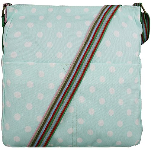 Miss Lulu Borsa messenger borsa da donna borsetta da donna bolse a tracolla borsa da scuola per ragazza Blu (Azzurro)