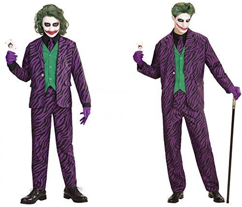 stüm für Herren Kinder Jungen Mann Jacke mit Weste Hose Krawatte, Junge/Herren:L (Joker Kostüm Für Männer)