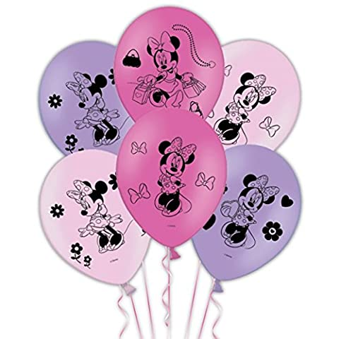 Minnie Mouse 4 sides Latex Balloons 6 Per