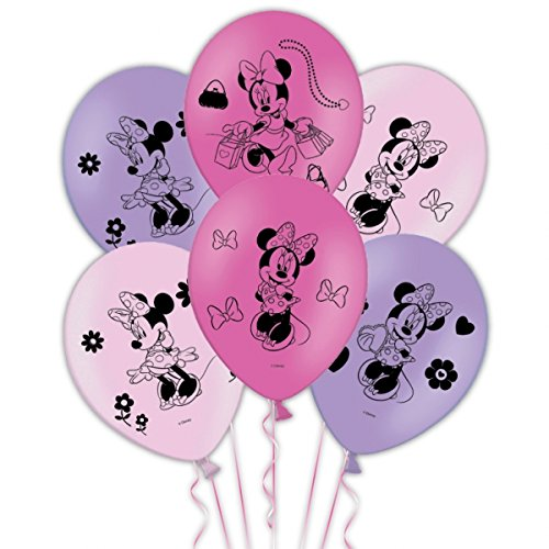 Latex Balloons 6 Per Pack (Minnie Luftballons)