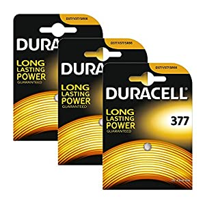 3 x Duracell 377 1.5v Silver Oxide Watch Battery Batteries SR626SW AG4 626 D377