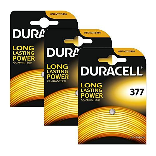 3 x Duracell 377 1.5v Silver Oxide Watch Battery Batteries SR626SW AG4 626 D377 -