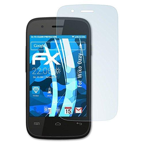 atFolix Schutzfolie kompatibel mit Wiko Ozzy Folie, ultraklare FX Bildschirmschutzfolie (3X)