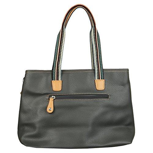 David Jones Glockenblume Damen Shopper Tasche Dunkel Grau