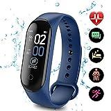 UNbran M4 Smart Fitness Tracker, Activiteitstracker Waterdichte Health Tracker met Hartslagmonitor, Slaapmonitor, Stappenteller, Calorieën Fitness Horloge voor Vrouwen, Mannen Kinderen