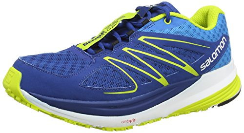 Salomon - Sense Pulse, Sneakers da uomo, blu (gentiane/methyl blue/gecko green), 44