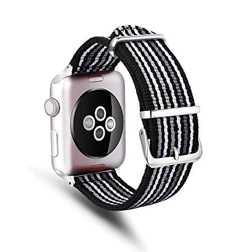 TechCode Smartwatch Band for Boy, Premium Nylon Sportband Slim Watch Ersatz Smartwatch Strap Armband Zubehör für Apple iWatch Series 1/2/3/4 (38mm 40mm,A03)