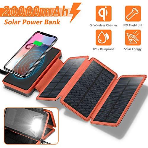 Sendowtek Cargador Solar 20000mAh Power