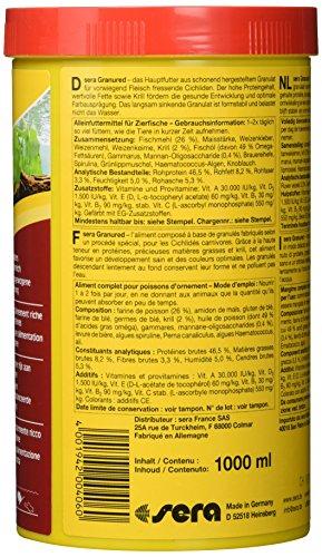 sera 00406 granured 1000 ml – Das farbverstärkende Granulat für kleinere Fleischfressende Cichliden - 3