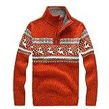 Herren Weihnachten Strickwaren Mann Stricken Hemd Mode Rentier Schnee Schneeflocken Pullover Bluse Weihnachten Hemd Top Moonuy