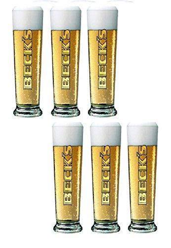Bicchiere birra beck's cl. 40 modello seattle set 6 pz.