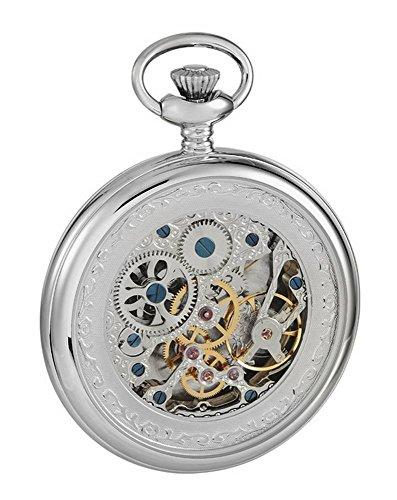 Woodford Mens Full Size Movement Albert Pocket Watch – Silver