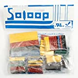 Item specifics: Brand:SOLOOP Color: Black,Red,Yellow,Blue,Green Quantity:328Pcs This listing is for a set assortment of 328 pieces of Polyolefin Halogen-Free Heat Shrink Tubing. This product has a 2:1 shrink ratio and is both UL & CSA certified f...