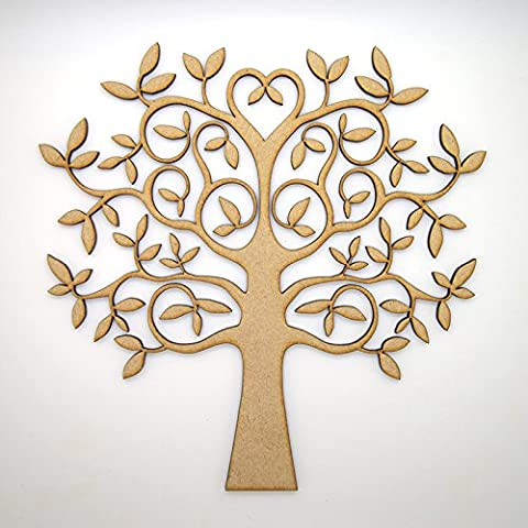 MDF Tree Shape for Crafts, with added love - perfect for Family Tree, Weddings (15cm)