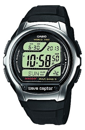 Casio Wave Ceptor Herren Digital mit Resin Armbanduhr WV58E1AVEF