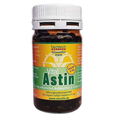 Astaxanthin - versandkostenfrei - VitalAstin vegan 150 Kapseln mit 4 mg Astaxanthin