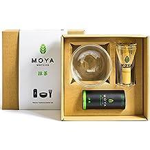 Organic Moya Matcha-tradicional (II) preparación de té de grado Starter Kit básico Set-30g tradicional (II) paquete de grado + bol + batidor