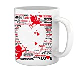 TIED RIBBONS Best Valentine's Day Gifts Love Symbols Printed Coffee Mug (325 ml, White)