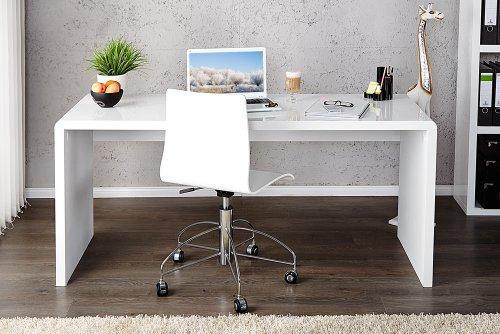 Invicta Interior 15806 Fast Trade Schreibtisch hochglanz 120 cm, weiß