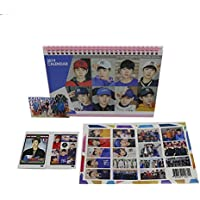 Exo Kpop Desk Calendar with Transparent Photo card, Sticker