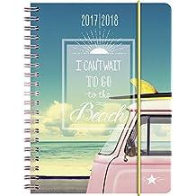 Brunnen 1072965028 Schülerkalender Beach (1 Woche in 2 Seiten, August 2017 bis Juli 2018)