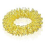 Oro Sujok acupresión Terapia de Artritis Alivio del Dolor Masajeador De Dedo circulatorio Anillo en Golden bolsa de regalo