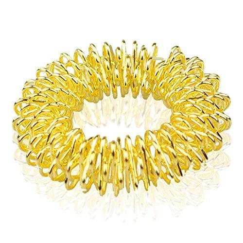 Oro Sujok acupresión Terapia de Artritis Alivio del Dolor Masajeador De Dedo circulatorio Anillo en Golden bolsa de