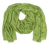 Enzianblau Trachten: Schal Uni mit Hirschen, Trachtenschal für Damen und Herren, Oktoberfest Schal, versch. Farben (grün)