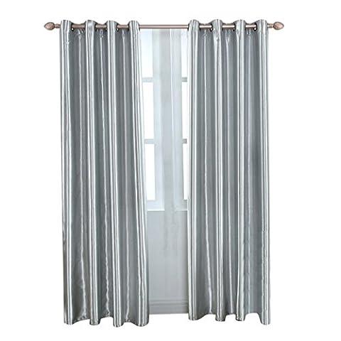 Hoomall Décoration de fenêtres Rideau à Oeillets Occultant Rideau Enfant pr Salon Chambre Couleur Gris Polyester 106.7cmx213.4cm 1 PC