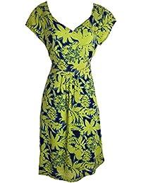 6dabbdd884229f Ex White Stuff Ladies Palm print Lena dress Lime or Coral Tea Sun sizes 8-