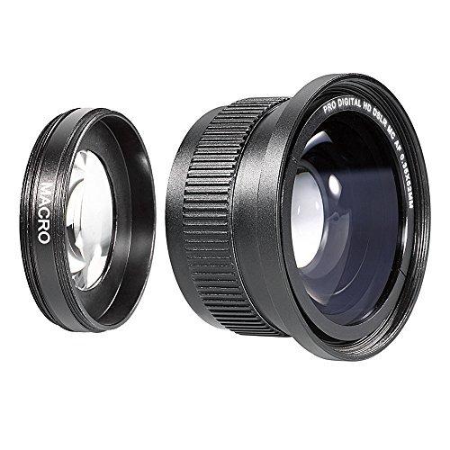 Neewer Makro Fisheye-Objektiv für Nikon D60/D70/D80/D90/D40x/D3000/D100 (52mm, 0.35X HD II)