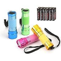 EverBrite LED Handlampe Mini, LED Camping Handlampe nachtleuchtenden Taschenlampe für Camping, Radfahren, Klettern und andere Outdoor-Aktivitäten 4-tlg.