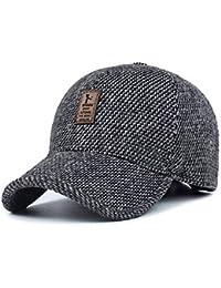 WETOO Berretto da Baseball da Uomo Invernale con Paraorecchie Cappellino in  Lana 61b69f711341