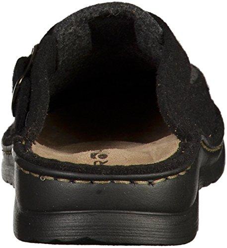 Rohde Schuhe Herren Hausschuhe Pantoffeln Filz Augsburg 6681 Schwarz