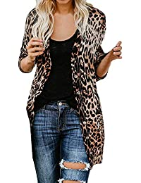 a661086631269 BaZhaHei Womens Long Sleeve Leopard Print Coat Fashion Blouse T-Shirt Women  Tank Tops Sexy Long Jacket Autumn Shirt Ladies Casual…
