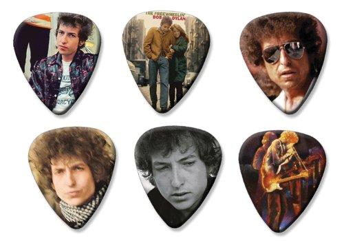Bob Dylan Set of 6 Loose Gitarre Plektrum Plektron Picks ( Collection D ) (Bob Dylan-gitarre Picks)