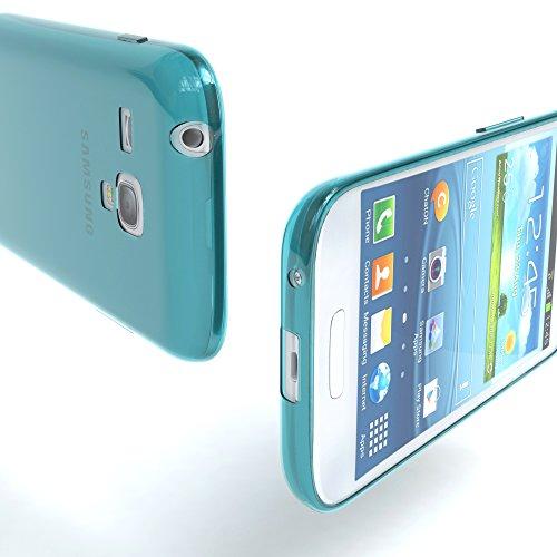 Samsung Galaxy S3 Mini Hülle - EAZY CASE Ultra Slim TPU Handyhülle - dünne Schutzhülle in Hellblau Clear Hellblau