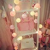Lámpara de Tira Bola Hada Noche Cadenas de Luz Ligera Algodón 10 Liderada Decoración Navidad