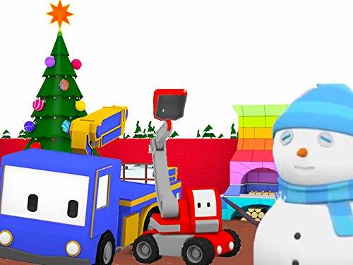 Lerne mit den kleinen Trucks auf dem Jahrmarkt : Schneemann / Weihnachtsvorbereitung