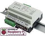 Raspberry Pi Hutschienengehäuse. Der kleine Industrie-PC. (Nur Board - ohne Raspberry Pi, mit Heatsink)