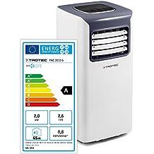 TROTEC PAC 2010 S Climatizzatore Portatile a 7000 Btu, Condizionatore D'Aria Locale Monoblocco da 2,0 Kw, EEK A, 3in1: climatizzatizzare, ventilare, deumidificare