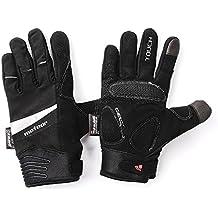 meteor® wx901 Guantes, completo guantes de invierno para ciclismo mtb Road Race Downhill Senderismo y otros deportes Unisex pantalla táctil Guantes Gel (L)