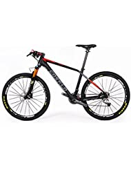 "Costelo Attack montaña MTB bicicleta de fibra de carbono completo 27.5er 650B 15""17"", color rojo, tamaño Shimano610"