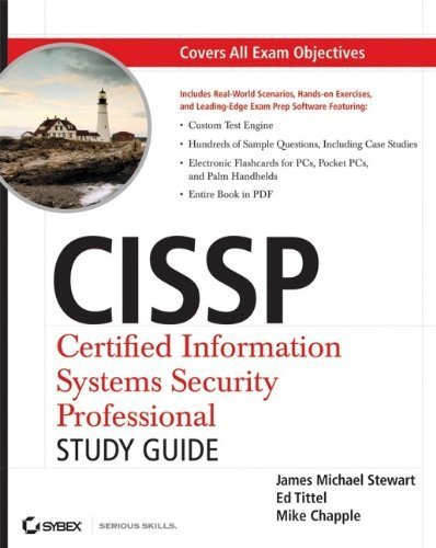 CISSP: Certified Information Systems Security Professional Study Guide by Stewart, James M., Tittel, Ed, Chapple, Mike (2008) Paperback