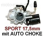 Unbranded Sport VERGASER 17,5mm E-Choke für Peugeot JETFORCE Jet Force 50 Roller 2TAKT